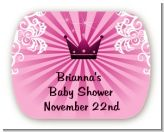 Princess Royal Crown - Personalized Baby Shower Rounded Corner Stickers