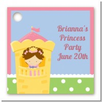 Princess in Tower - Personalized Birthday Party Card Stock Favor Tags