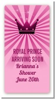 Princess Royal Crown - Custom Rectangle Baby Shower Sticker/Labels