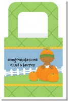 Pumpkin Baby African American - Personalized Baby Shower Favor Boxes