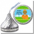 Pumpkin Baby African American - Hershey Kiss Baby Shower Sticker Labels thumbnail