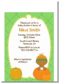 Pumpkin Baby African American - Baby Shower Petite Invitations
