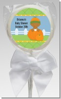 Pumpkin Baby African American - Personalized Baby Shower Lollipop Favors