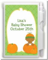 Pumpkin Baby African American - Baby Shower Personalized Notebook Favor