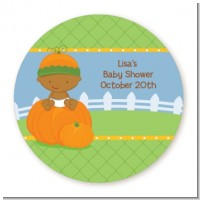 Pumpkin Baby African American - Personalized Baby Shower Table Confetti