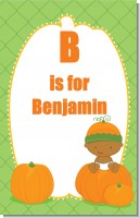 Pumpkin Baby African American - Personalized Baby Shower Nursery Wall Art