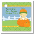 Pumpkin Baby Asian - Personalized Baby Shower Card Stock Favor Tags thumbnail