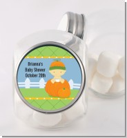 Pumpkin Baby Asian - Personalized Baby Shower Candy Jar