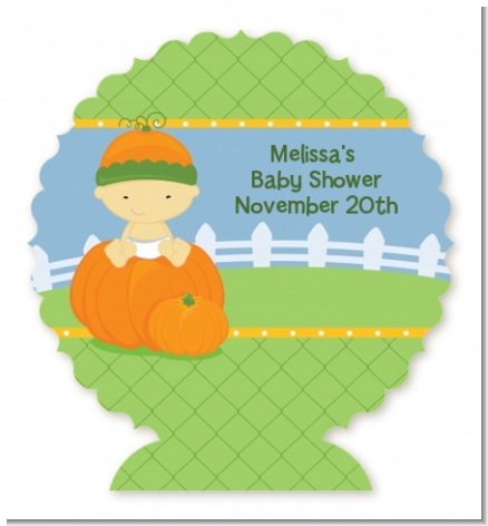 Pumpkin Baby Asian - Personalized Baby Shower Centerpiece Stand