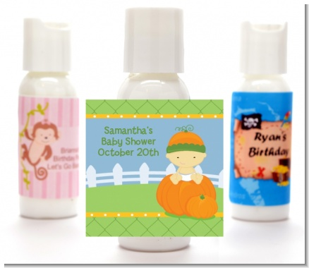 Pumpkin Baby Asian - Personalized Baby Shower Lotion Favors