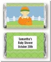 Pumpkin Baby Asian - Personalized Baby Shower Mini Candy Bar Wrappers