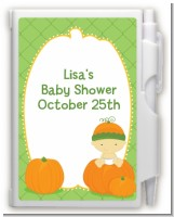 Pumpkin Baby Asian - Baby Shower Personalized Notebook Favor