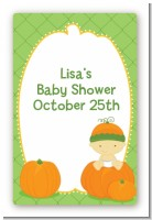 Pumpkin Baby Asian - Custom Large Rectangle Baby Shower Sticker/Labels
