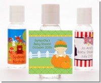 Pumpkin Baby Caucasian - Personalized Baby Shower Hand Sanitizers Favors