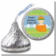 Pumpkin Baby Caucasian - Hershey Kiss Baby Shower Sticker Labels thumbnail