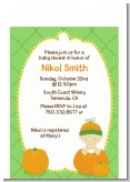 Pumpkin Baby Caucasian - Baby Shower Petite Invitations