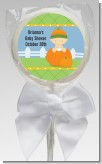 Pumpkin Baby Caucasian - Personalized Baby Shower Lollipop Favors