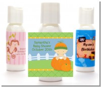 Pumpkin Baby Caucasian - Personalized Baby Shower Lotion Favors