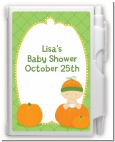 Pumpkin Baby Caucasian - Baby Shower Personalized Notebook Favor