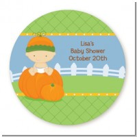 Pumpkin Baby Caucasian - Personalized Baby Shower Table Confetti