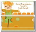Pumpkin Patch Scarecrow Fall Theme - Personalized Thanksgiving Candy Bar Wrappers thumbnail