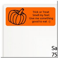 Pumpkin - Halloween Return Address Labels