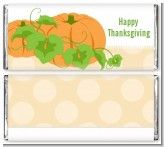 Pumpkin Trio Fall Theme - Personalized Thanksgiving Candy Bar Wrappers