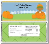 Pumpkin Baby African American - Personalized Baby Shower Candy Bar Wrappers