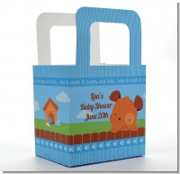 Puppy Dog Tails Boy - Personalized Baby Shower Favor Boxes