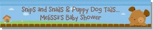 Puppy Dog Tails Boy - Personalized Baby Shower Banners