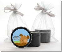 Puppy Dog Tails Boy - Baby Shower Black Candle Tin Favors