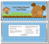 Puppy Dog Tails Boy - Personalized Baby Shower Candy Bar Wrappers