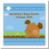 Puppy Dog Tails Boy - Personalized Baby Shower Card Stock Favor Tags