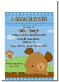 Puppy Dog Tails Boy - Baby Shower Petite Invitations