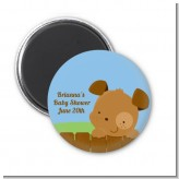 Puppy Dog Tails Boy - Personalized Baby Shower Magnet Favors