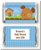 Puppy Dog Tails Boy - Personalized Baby Shower Mini Candy Bar Wrappers