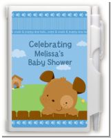 Puppy Dog Tails Boy - Baby Shower Personalized Notebook Favor