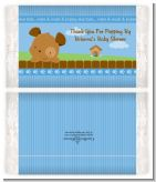 Puppy Dog Tails Boy - Personalized Popcorn Wrapper Baby Shower Favors