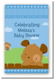 Puppy Dog Tails Boy - Custom Large Rectangle Baby Shower Sticker/Labels
