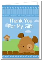 Puppy Dog Tails Boy - Baby Shower Thank You Cards