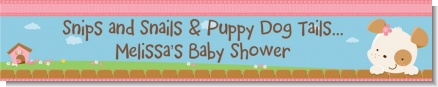 Puppy Dog Tails Girl - Personalized Baby Shower Banners