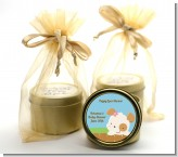 Puppy Dog Tails Girl - Baby Shower Gold Tin Candle Favors