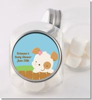 Puppy Dog Tails Girl - Personalized Baby Shower Candy Jar