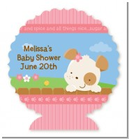 Puppy Dog Tails Girl - Personalized Baby Shower Centerpiece Stand