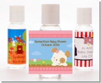 Puppy Dog Tails Girl - Personalized Baby Shower Hand Sanitizers Favors