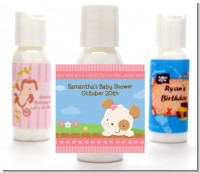 Puppy Dog Tails Girl - Personalized Baby Shower Lotion Favors