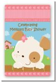 Puppy Dog Tails Girl - Custom Large Rectangle Baby Shower Sticker/Labels