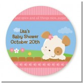 Puppy Dog Tails Girl - Personalized Baby Shower Table Confetti