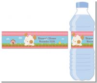 Puppy Dog Tails Girl - Personalized Baby Shower Water Bottle Labels