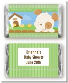 Puppy Dog Tails Neutral - Personalized Baby Shower Mini Candy Bar Wrappers